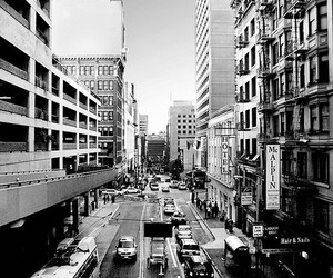 2009, black and white, and buildings image