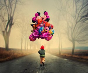 balloons, child, and disney image