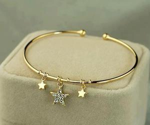 stars, bracelet, and gold image