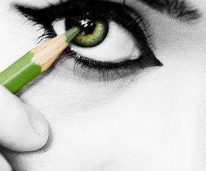 art, green, and beautiful image