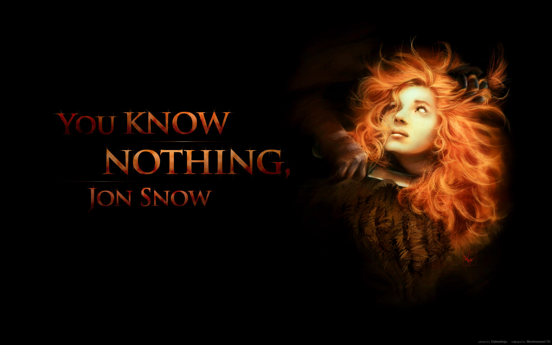 You Know Nothing Jon Snow On We Heart It