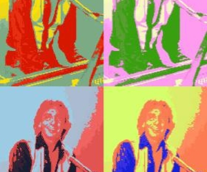 barry manilow and pop art image
