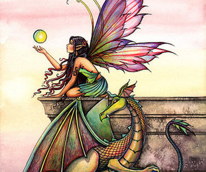 dragon, draw, and fairy image