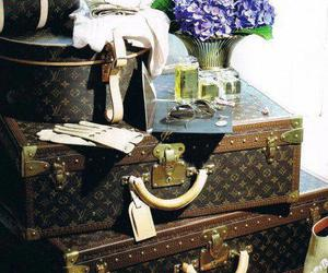 Louis Vuitton, luggage, and luxury image