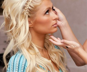 hair, paris hilton, and blonde image