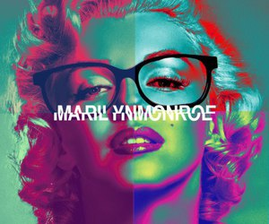 Marilyn Monroe, marilyn, and glasses image