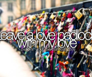 love and padlock image
