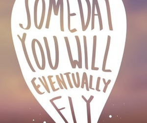 fly, quote, and love image