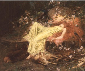 nymph, oil on canvas, and preraphaelite image