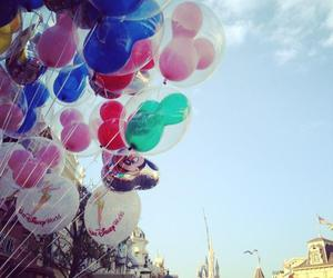 baloons, castle, and great image