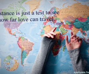 love, distance, and travel image