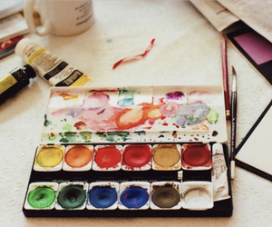 art, paint, and watercolor image
