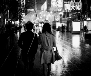 couple, photography, and umbrella image