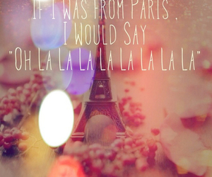 paris, quote, and song image