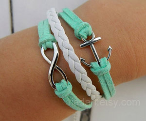 bracelet, anchor, and infinity image