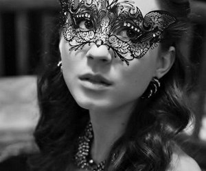 pretty little liars, troian bellisario, and black and white image