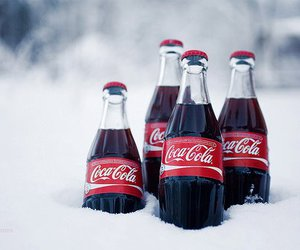 coca cola, snow, and coke image