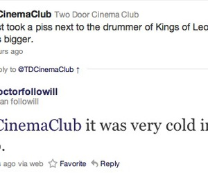funny, two door cinema club, and nathan followill image