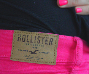 hollister, pink, and girl image