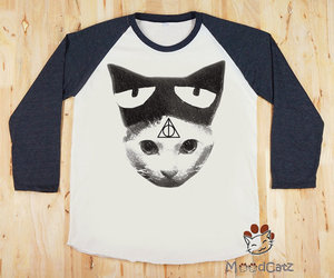 cat and deathly hallows cat image