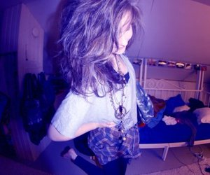 bedroom, hair, and messy image