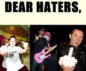 dear, haters, and linkin park image