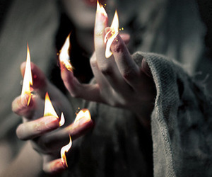 fire, fingers, and hands image