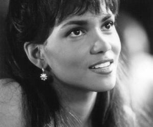 Halle Berry, girl. black and white, and autumn haley image