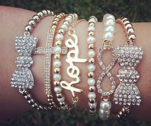 hope, bracelet, and fashion image