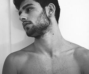 beard, black hair, and man image