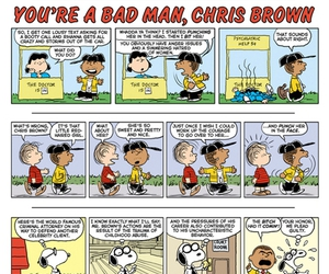 chris brown, peanuts, and snoopy image