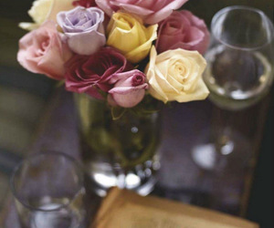 flowers, roses, and book image