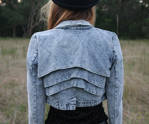 fashion, jacket, and denim image
