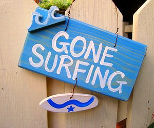 surfing, surf, and summer image