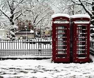 snow, london, and telephone image
