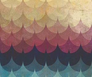 colors, pattern, and waves image