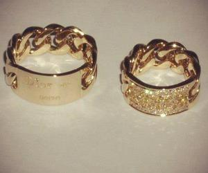 gold, dior, and ring image