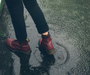 rain, shoes, and grunge image