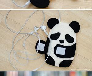 panda, diy, and phone image