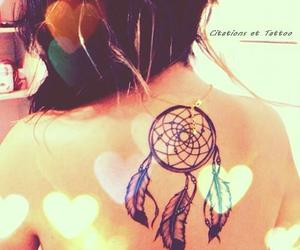 dreamcatcher, tattoo, and dreamcatcher tattoo image