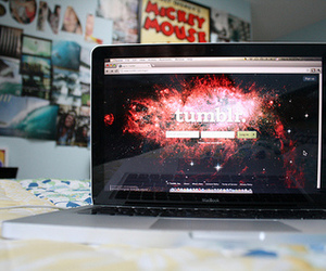 tumblr, photography, and laptop image