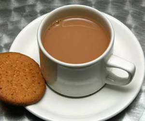 biscuit, teacup, and drink image