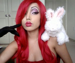 makeup, red hair, and wig image