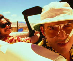 Fear and Loathing in Las Vegas, johnny depp, and Benicio del Toro image