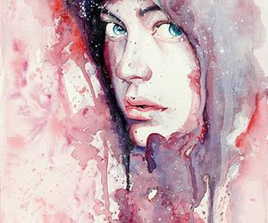 art, boy, and watercolor image