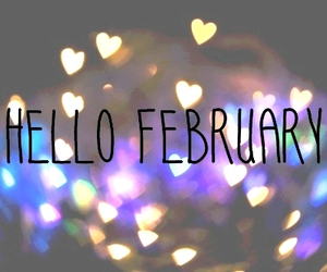 february, hello, and text image