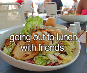 lunch, friends, and cool image