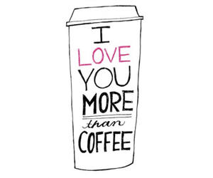 coffee, love, and illustration image
