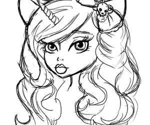 drawing and monster high image