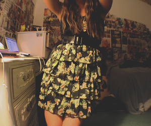 girl, fashion, and dress image
